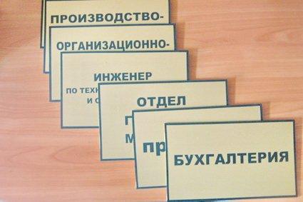 Таблички на кабинеты