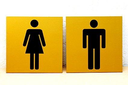 Таблички на туалет