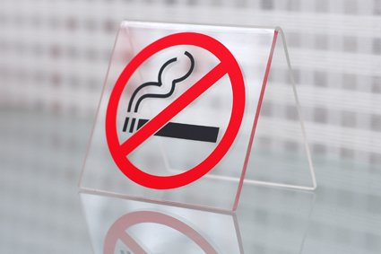 Табличка на стіл паління заборонено