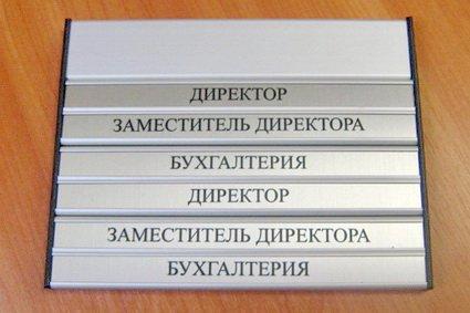 Навгаціонная табличка в бізнес-центр з металу