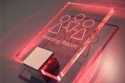 Офісні табличка з акрилу з червоним підсвічуванням
