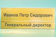 Золота табличка з алюмінієвого профілю