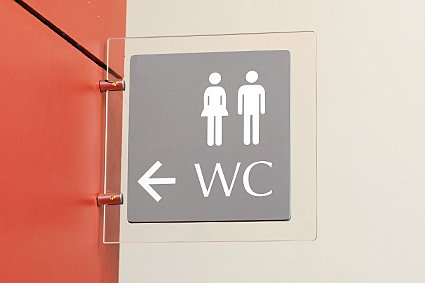 Табличка туалету в бізнес-центр